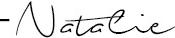 Natalie signature